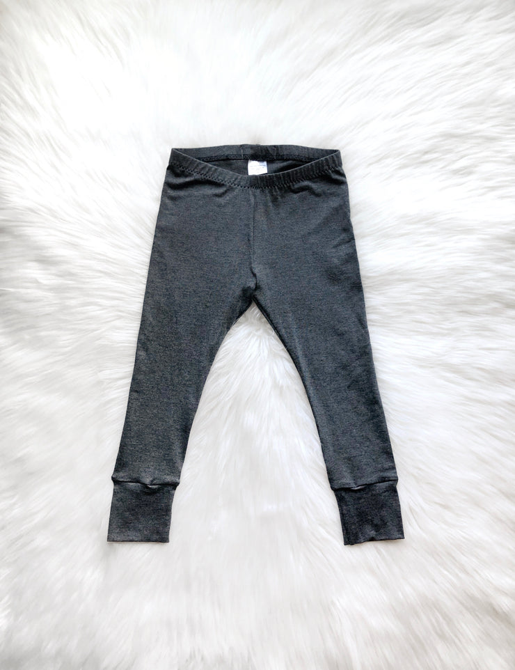 Heather Grey Bamboo Leggings