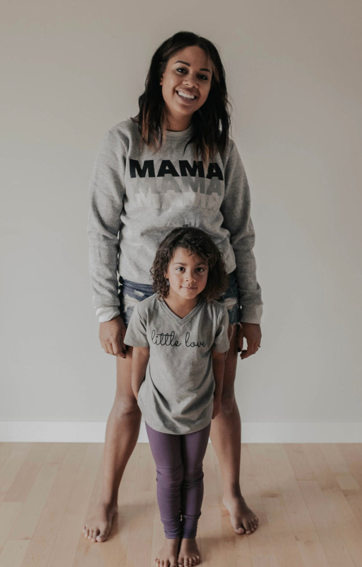 Light Grey MAMA Crewneck Sweatshirt