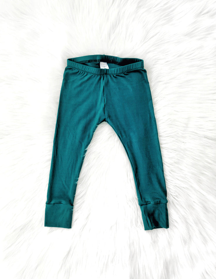 Dark Teal Bamboo Leggings