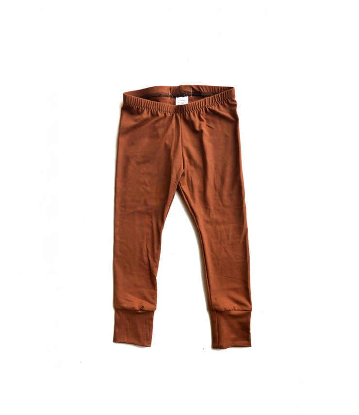 Burnt Orange Bamboo Leggings