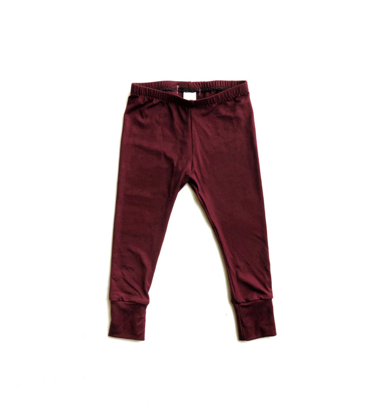 Burgundy Bamboo Leggings