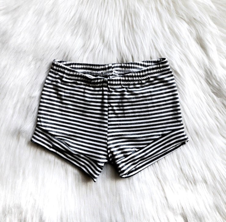 B&W Striped Shorties
