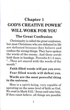Charles Capps, God's Creative Power Minibook