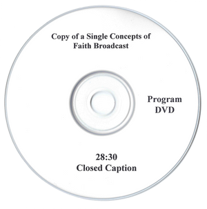 Copy of a Single Concepts of Faith TV Broadcast