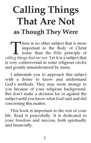 Charles Capps - Calling Things That Are Not - page 1