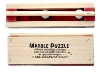 2 Marble Wood Puzzle