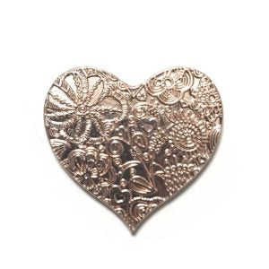Attractable Gold Heart Key Charm