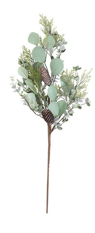"28""H Artificial Eucalyptus Leaf & Cedar Spray"