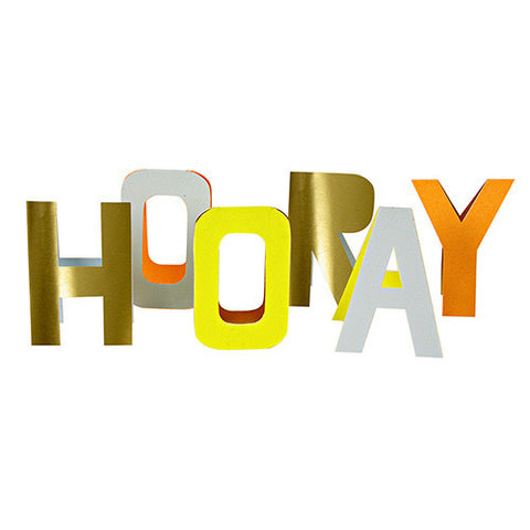 hooray stand up letters card