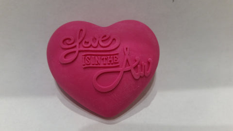 Eraser - Heart Shaped - w/Love is in the air.