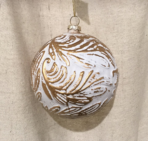 "4"" Ball Ornament with Swirl"