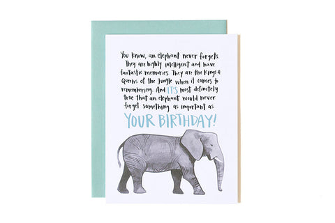 Elephant Birthday Card Shopchestnuts