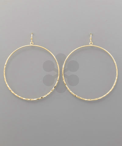 Ring Earrings-Gold