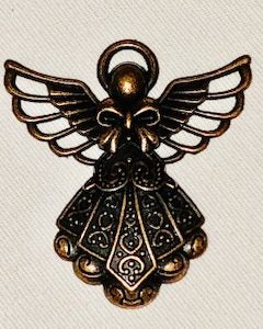 Attractable Bronze Angel Key Charm