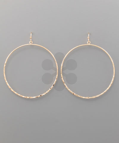 Ring Earrings-Rose Gold