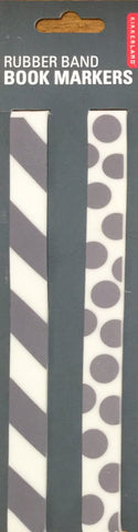 Rubberband Bookmarkers Grey and White