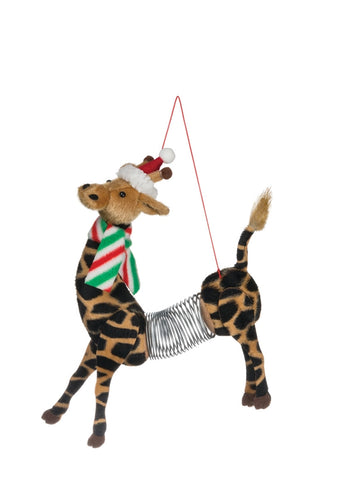 "7"" Giraffe Springer Ornament"
