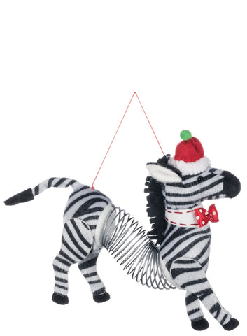 "7"" Zebra Springer Ornament"