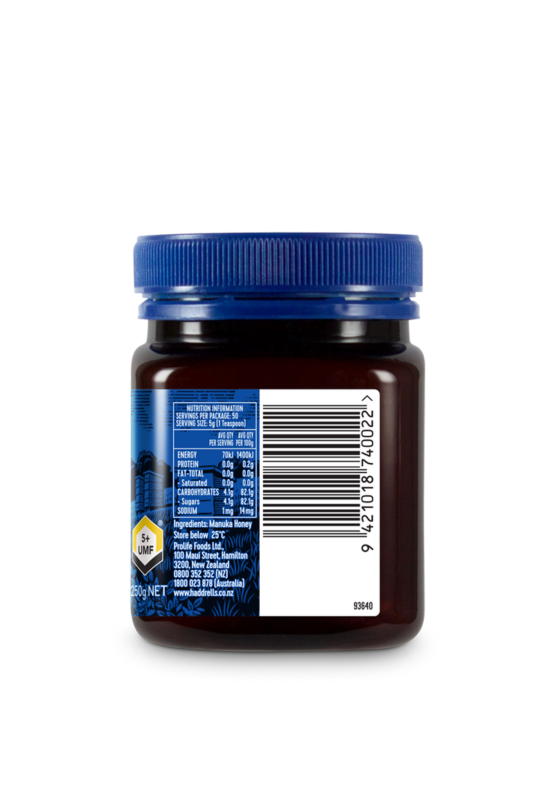 Manuka Honey, Certified UMF 5+, 250g/8.82oz.
