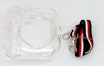 USD - Fujifilm Fuji Instax Mini 25 Film Camera Plastic Case Transparent w/ Strap