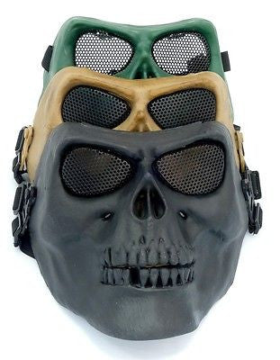 USD - Skull Airsoft Paintball Game Hunting Biker Ski Full  Face Protect Mask