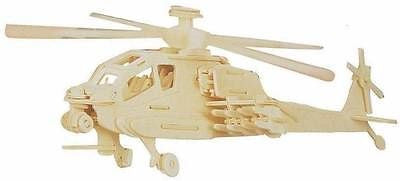 USD - DIY Wooden Toy : APACHE HELICOPTER 3D PUZZLE WOOD CRAFT CONSTRUCTION KIT