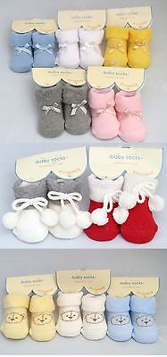USD - Lovely 100% Cotton Baby Sock for NB Newborn 1 month babies