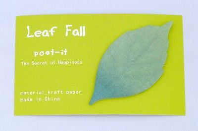 USD - Leaf Fall Kraft paper Sticky Post-it notes green