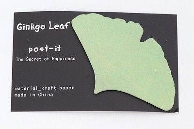 USD - Ginkgo Leaf Fall Kraft paper Sticky Post-it notes Green