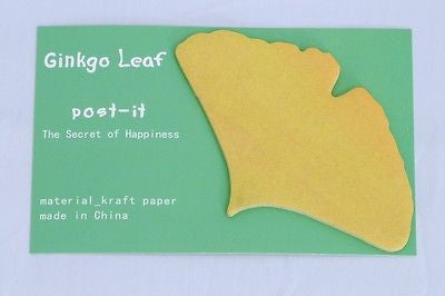 USD - Ginkgo Leaf Fall Kraft paper Sticky Post-it notes Yellow