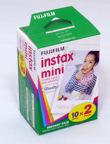Fuji Instax Mini Film Plain White-Twin Pack (20pcs) For Mini 7 7s 8 10 20 25