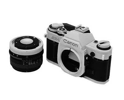 USD - Camera 1:1 Paper Model - Vintage Canon AE-1