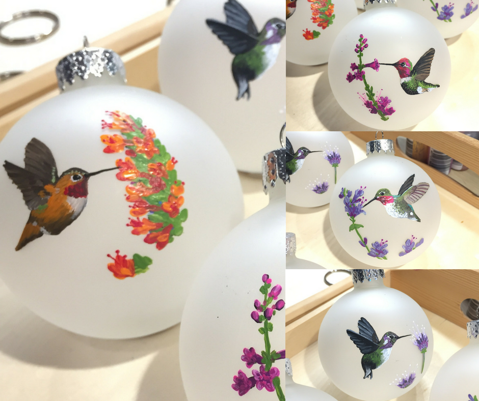 Hummingbird ornaments (That time I mistook an ornament order for an invite to Vegas)