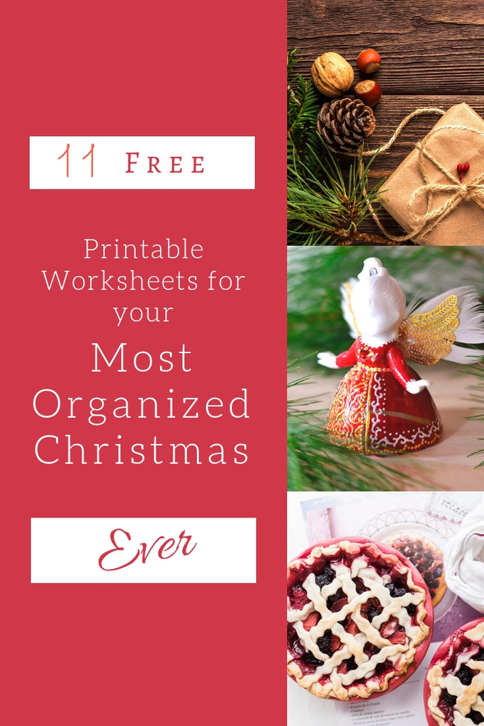 Have your most organized Christmas this year with these 11 Free Printable Worksheets!