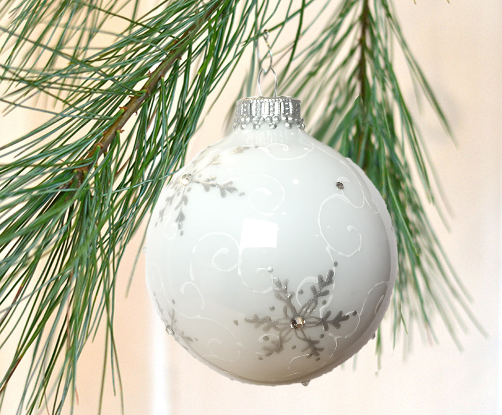 Snowflake Ornament Glass Ball