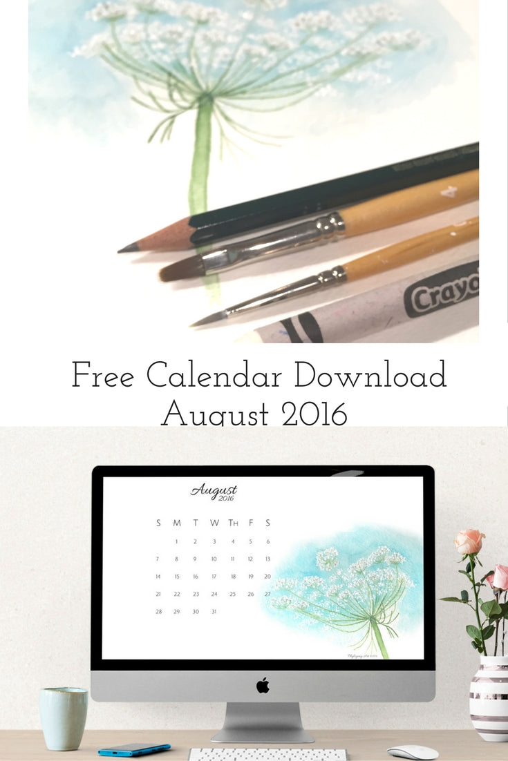 August calendar Pinterest graphic