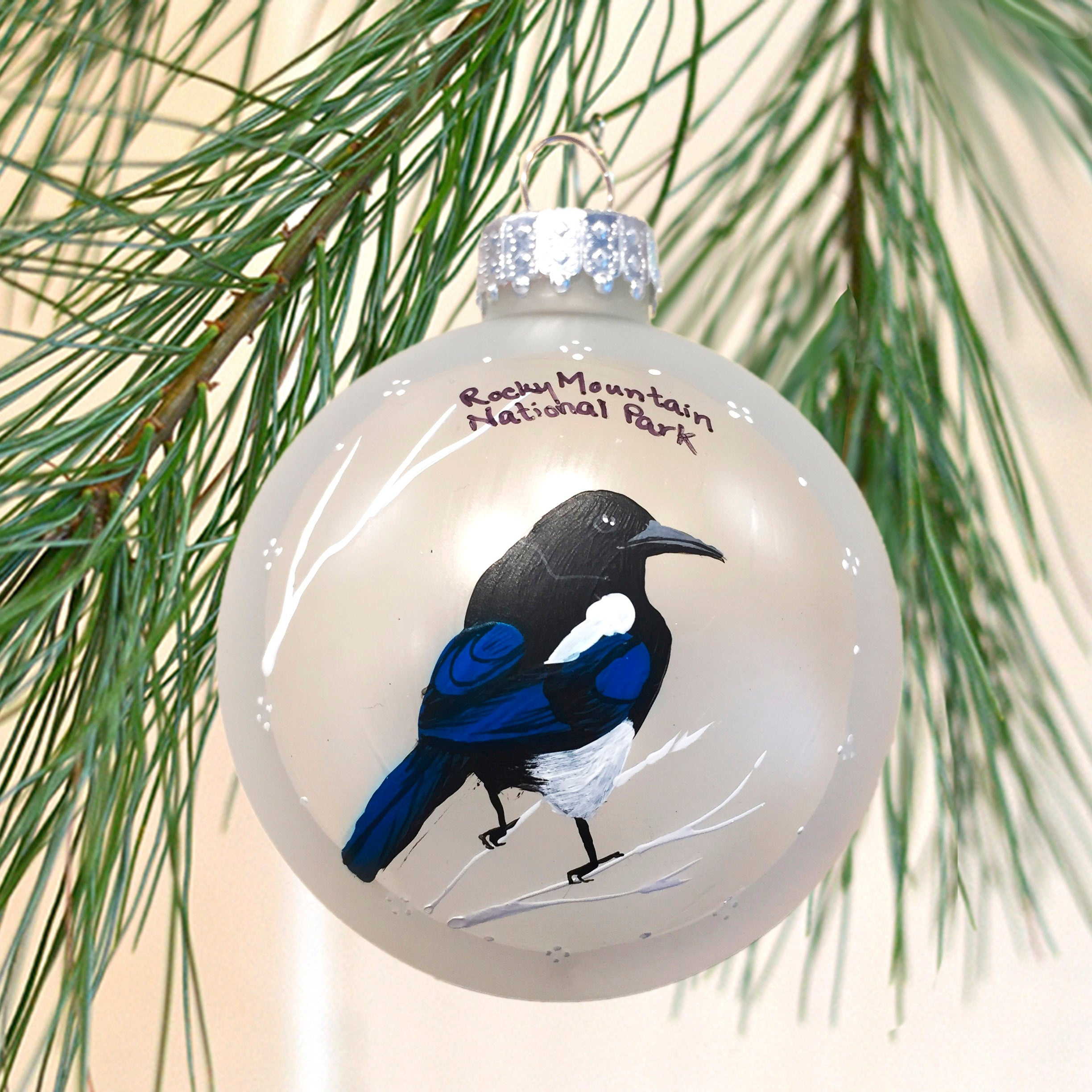 Rocky Mountain Magpie Ornament