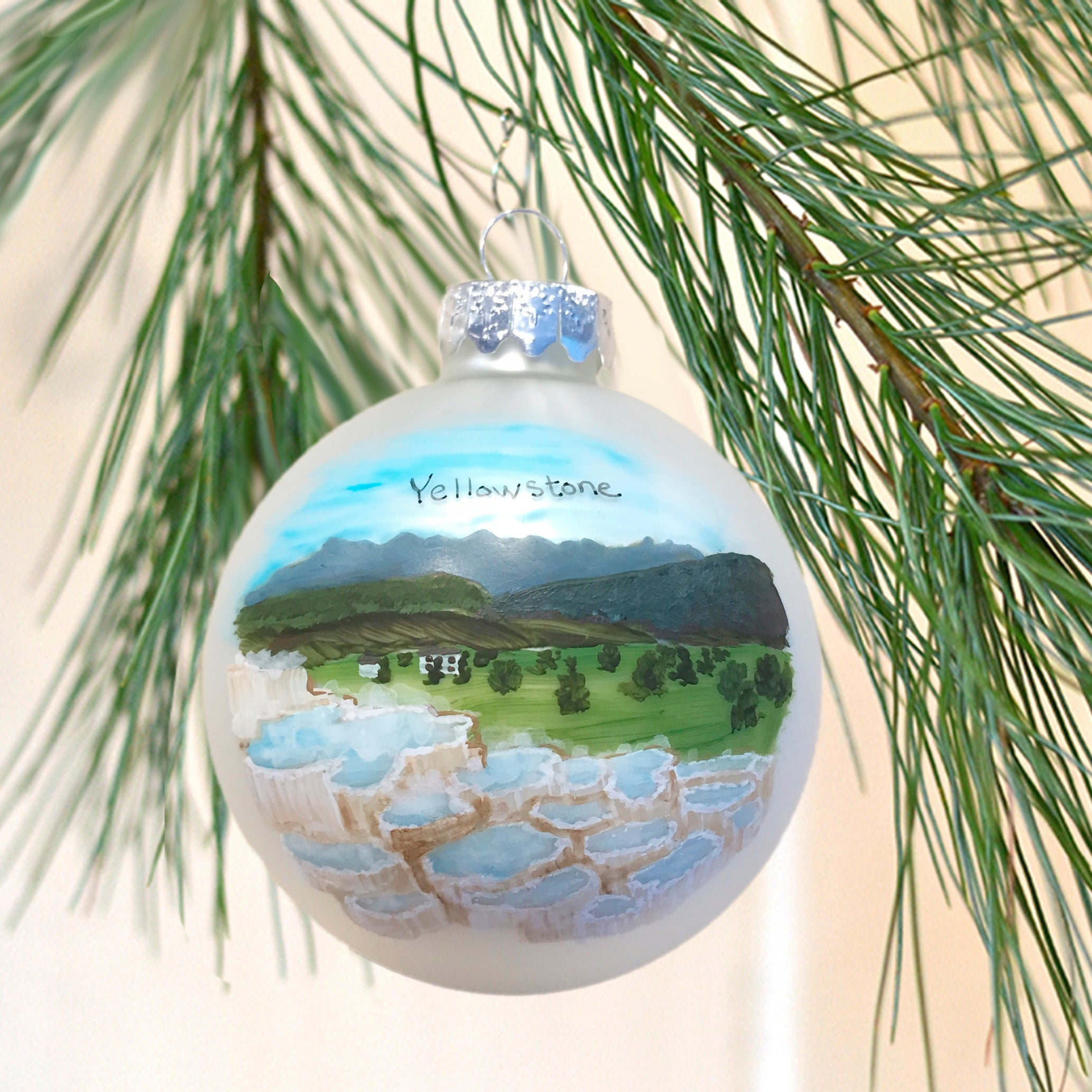 Yellowstone Mammoth Hot Springs Ornament
