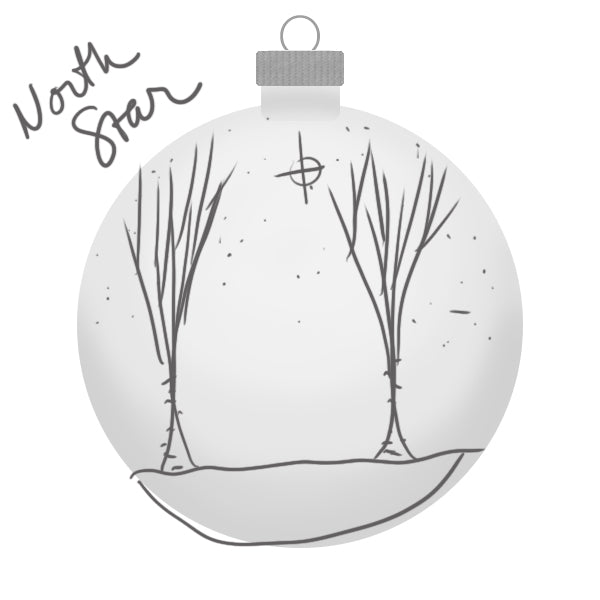 Rocky Mountain North Star Ornament Sketch