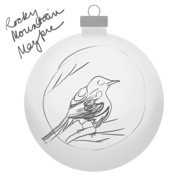 Rocky Mountain Magpie Ornament Sketch