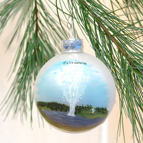 Yellowstone Upper Geyser Basin Ornament
