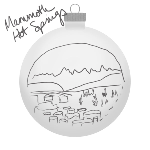 Yellowstone Mammoth Hot Springs Ornament Sketch