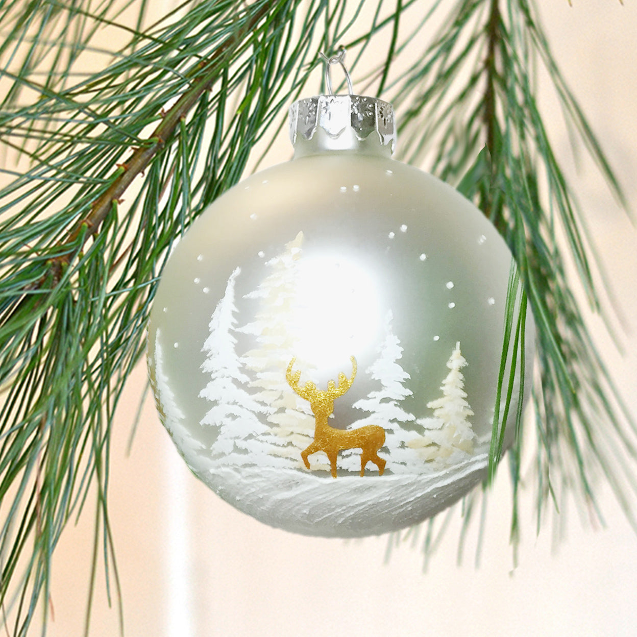 Yellowstone Gold Deer Ornament