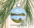 adirondack lake ornament