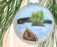 adirondack lake george ornament