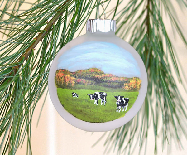 Vermont cow ornament