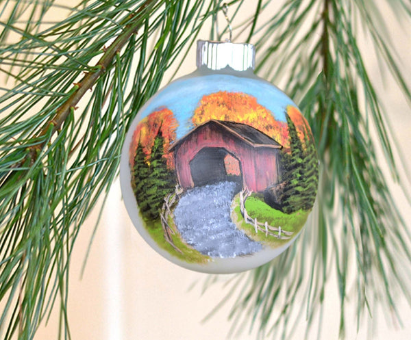 Vermont covered bridge ornament