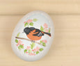 Hand Painted Oriole Ceramic Easter Egg Decor