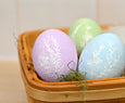Wood Egg Rainbow Collection, Set of 6 eggs