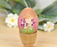 Wooden Egg Decoration Spring Garden Scene 1